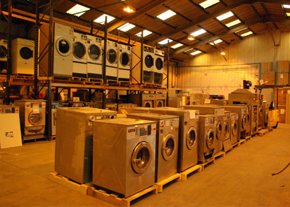 We buy and sell second hand commercial laundry equipment